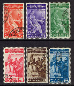VATICAN SCOTT#41-46 USED COMPLETE SET