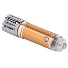 Gold Auto Car Fresh Air Ionic Purifier Oxygen Bar Ozone Ionizer Cleaner Mini 12V