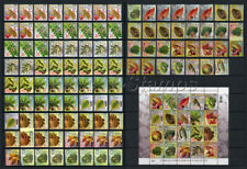 "2012-2017 Ukraine, A FULL SET ""TREE LEAVES and FRUIT""(123 different stamps)."