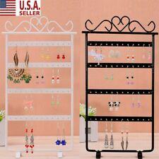 Jewelry Display Stand Rack Earring 48/72 Hole Holder Storage Organizer Box NEW