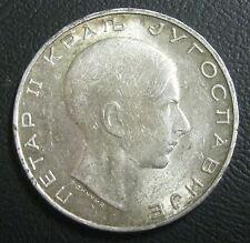 ROYAUME DE YOUGOSLAVIE - 50 DINARS 1938  - Pierre II - Argent
