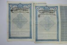 GOUVERNEMENT DES ETATS UNIS DU BRESIL 500 FRANCS 4% LONDRES 1910 X 2 ACTIONS
