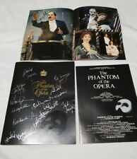 Andrew Lloyd Webber Phantom of the Opera autographed program book