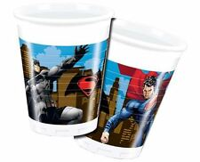 DC Comics Batman v Superman Boys Birthday Party 200ml Plastic Drink Cups - 8 pk