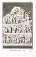 ANTIQUE PRINT VINTAGE 1777 COPPER PLATE DIDEROT APOTHEOSE D'HOMERE BERNARD DIREX