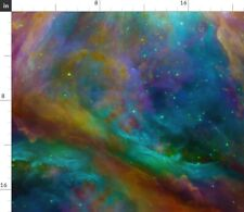 Rainbow Galaxy Nebula Heart Sloth Spoonflower Fabric by the Yard