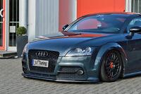 Frontspoiler Lippe Spoilerschwert Cuplippe aus ABS für Audi TTS 8j mit ABE
