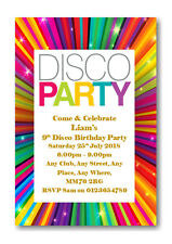 20 Personalised Birthday Disco Party Invites Invitations With Envelopes Rf BD14