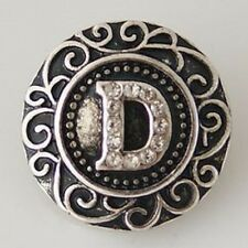 Fits Ginger Snap Ginger SNAPS LETTER D Initial Magnolia Vine JEWELRY 18mm Charm