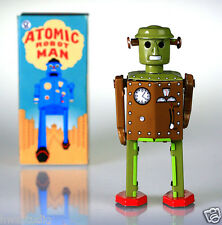 MS415 Tin Robot Atomic Robot Man Vintage Reproduction NEW windup toy COLLECTABLE
