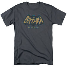 Classic Batman In Color T Shirt Mens Licensed Classic TV Merchandise Charcoal