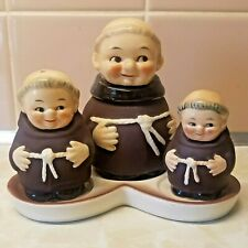 Vintage Goebel W. Germany Salt & Pepper Shakers, Mustard Jar & Tray