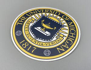 U of Michigan Vintage University Vinyl Outdoor / Indoor Sticker Laptop Car UM