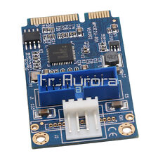 Mini PCIe to Dual USB3.0 Expansion Card mPCIe to 19pin Header USB3.0 Card