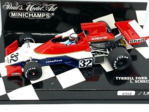 Limited Edition 1:43 scale Minichamps Tyrrell Ford 007 F1 Car - I Scheckter 1975