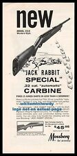 """1965 MOSSBERG 351C Western Style 22 Carbine AD """"Jack Rabbit Special"""""""
