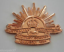 RISING SUN AUSTRALIAN COMMONWEALTH MILITARY FORCES WITH SCROLL GALLIPOLI 30MM