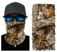 Neck Gaiter Face Mask Fishing Sun Headwear Protection Green Snake Skin Camo
