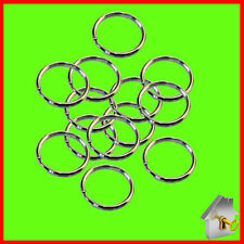 Keyring Split Rings SMALL - EXTRA LARGE Hoop Key Holder Metal Loop Nickel Holder