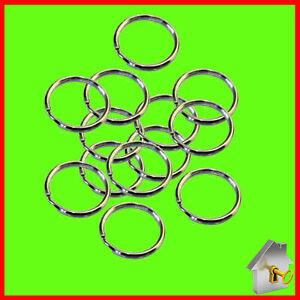 Keyring Split Rings SMALL - EXTRA LARGE Hoop Key Holder Metal Loop Nickel Holder