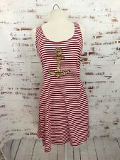 Sperry Top Sider Dress Red White Stripe Racerback #404