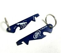 Lot of 2 New Blue Miller Lite Beer Punch Top Can & Bottle Opener Key Chain
