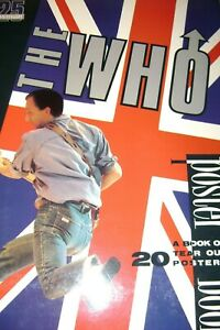 THE WHO 25 ANNIVERSARY UK 1989 / A BOOK OF 20 TEAR OUT POSTERS by MICK ST. MICHA