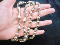 Vintage Carol Dauplaise Gold Tone Geometric Bead Necklace
