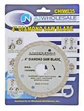 "4"" Diamond Saw Blade 7/8"" Arbor w/ 5/8"" Adapter  Concrete Granite Ceramic"