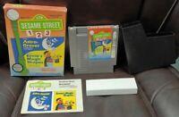 Sesame Street 1 2 3 NES Nintendo Game Original BOX Complete Manual Cover Cover