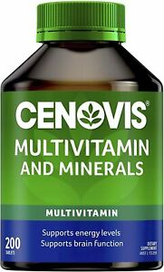 Cenovis Multivitamin and Minerals Tablets Energy Support 200 Capsules   NEW AU