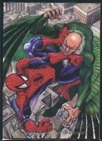 1994 Flair Marvel Annual Trading Card #8 Vulture vs Spider-Man