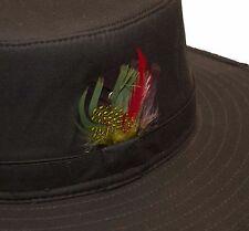 Walker & Hawkes Bush Sombrero de plumas Bushman Caza Australiano Outback 100% algodón