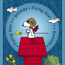 Flying Ace Snoopy Red Barron Panel cotton quilt fabric BTY Peanuts Gang