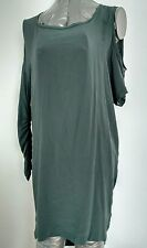 Designer MAJE asymmetric dress long top size S 100% Silk --MINT--