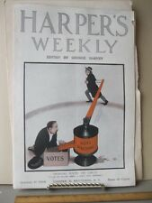 Vintage Print,SWINGING ROUND THE CICLE,Harpers,1908