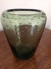 Large Heavy Vintage Whitefriars Encased Bubbles Tapered Ovoid Glass Vase