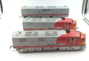 Marx 3 Piece Santa Fe 1095 Powered Locomotive - Dummy - Cabin Car O Gauge