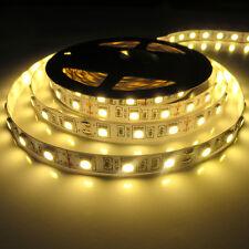 5050 Warm White 5M 300Leds  Led Strip Lights Lamps Ribbon Non-waterproof 12V