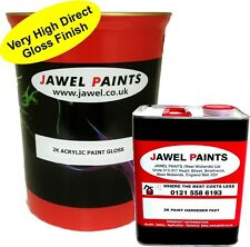 2k Paint Acrylic Car Paint 7.5 lt kit Direct Gloss - SNOWBERRY WHITE WT4