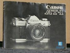 Canon AT-1 Camera Instruction Booklet