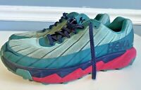 HOKA ONE ONE Torrent Trail running/walking shoes WOMENS Size 9.5 TEAL~PINK~BLUE