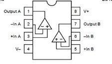 2 x OPA2604AP OPA2604 amplificatore operazionale integrato integrated circuit