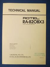 ROTEL RA-820BX3 TECHNICAL SERVICE MANUAL FACTORY ORIGINAL ISSUE THE REAL THING