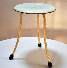 vintage métal tabouret chaise fauteuil travail avec FORMICA siège loft style