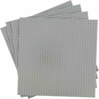 "4 Pcs Gray 10""x10"" building Baseplate Classic Bricks Compatible All Major Brands"