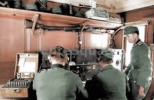 WW2 Picture Photo Enigma machine used in the communications room of a German 777