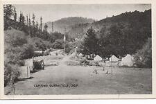 1920s Postcard of People Camping at Guerneville Russian River CA