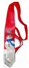 Mens Christmas Musical Tie Light up Novelty Xmas Gift Office Party Cool Santa