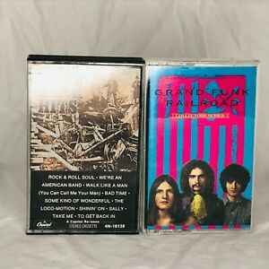 Lot of 2 Grand Funk Railroad Audio Cassette Tapes Hits & Collectors Series
